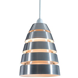 Colours Jet Cream Aluminium Cutaway Pendant Light Shade