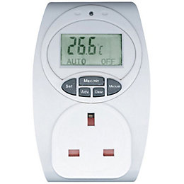 B&Q White 1-Gang 240V 13A Temperature Controlled Adaptor