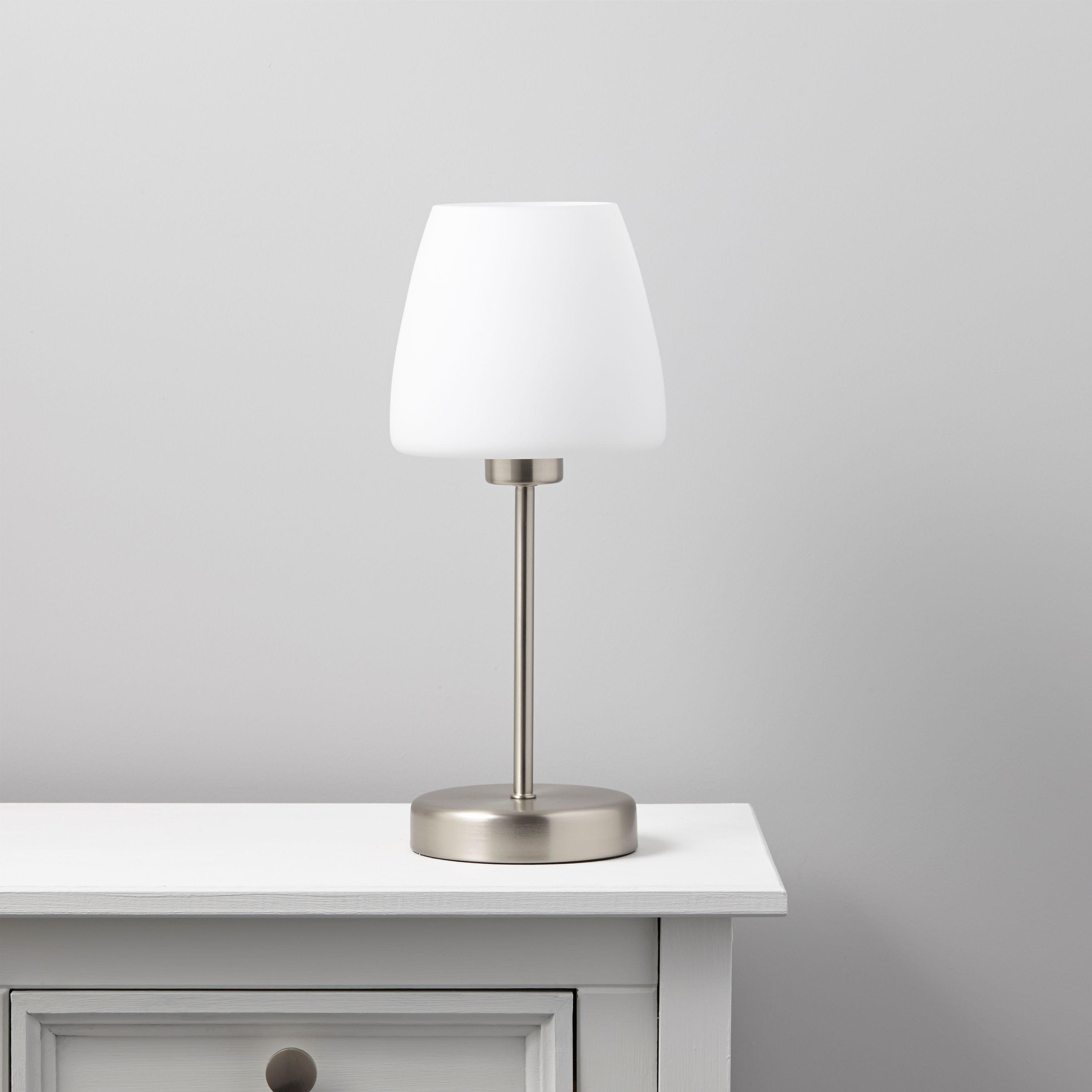 Faith White Table Lamp Departments Diy At B Amp Q