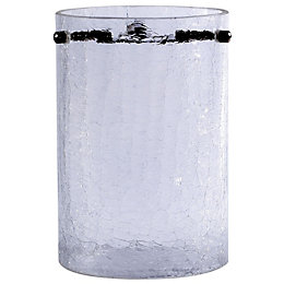 Crackle Clear Frosted Cylinder Light shade (D)110mm