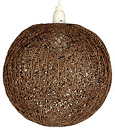 Abaca Chocolate Twine Ball Pendant Light Shade (D)280mm