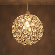 Zoe Clear Crystal effect Beaded rings Pendant light shade (D)240mm