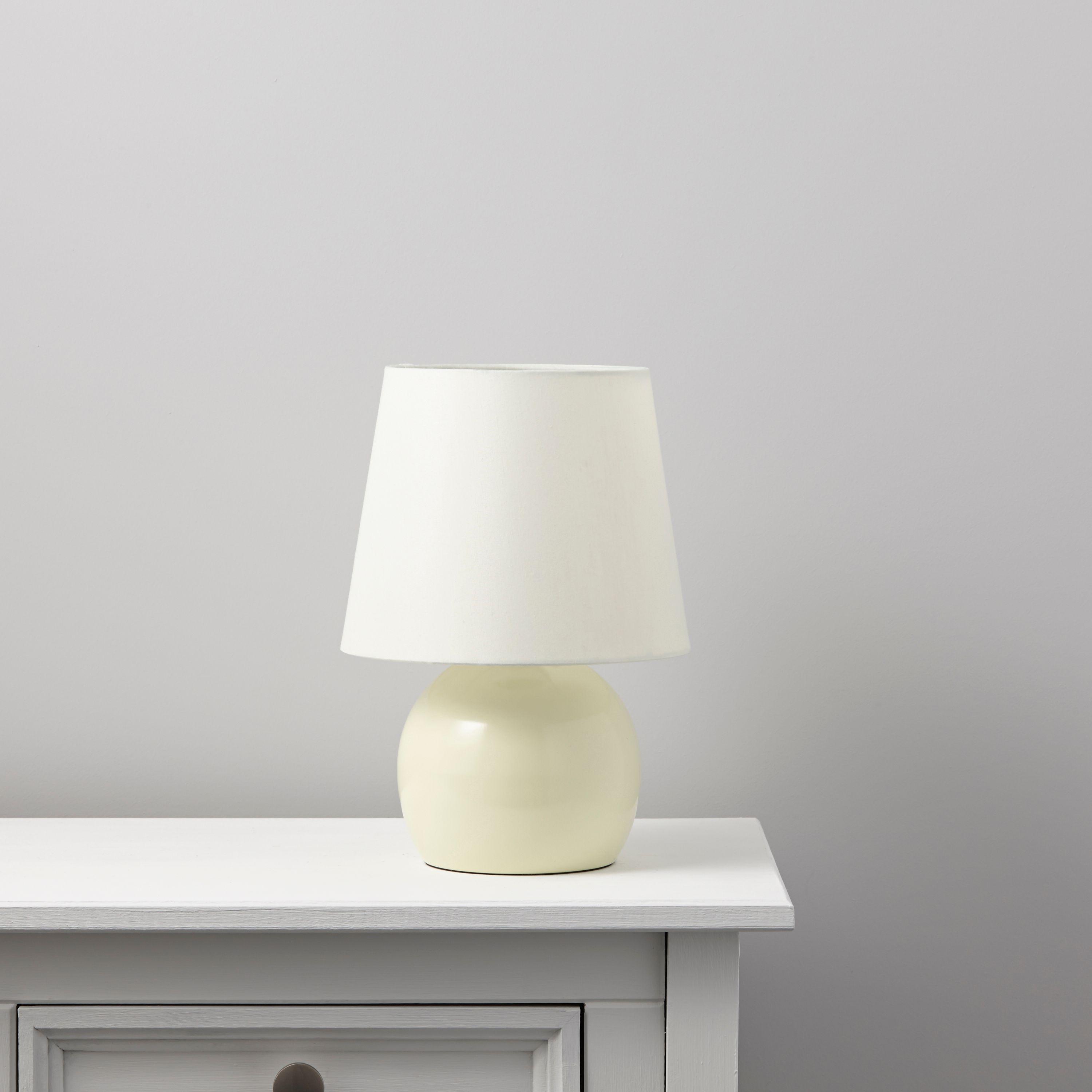 Ava cream table lamp departments diy at bq aloadofball Choice Image