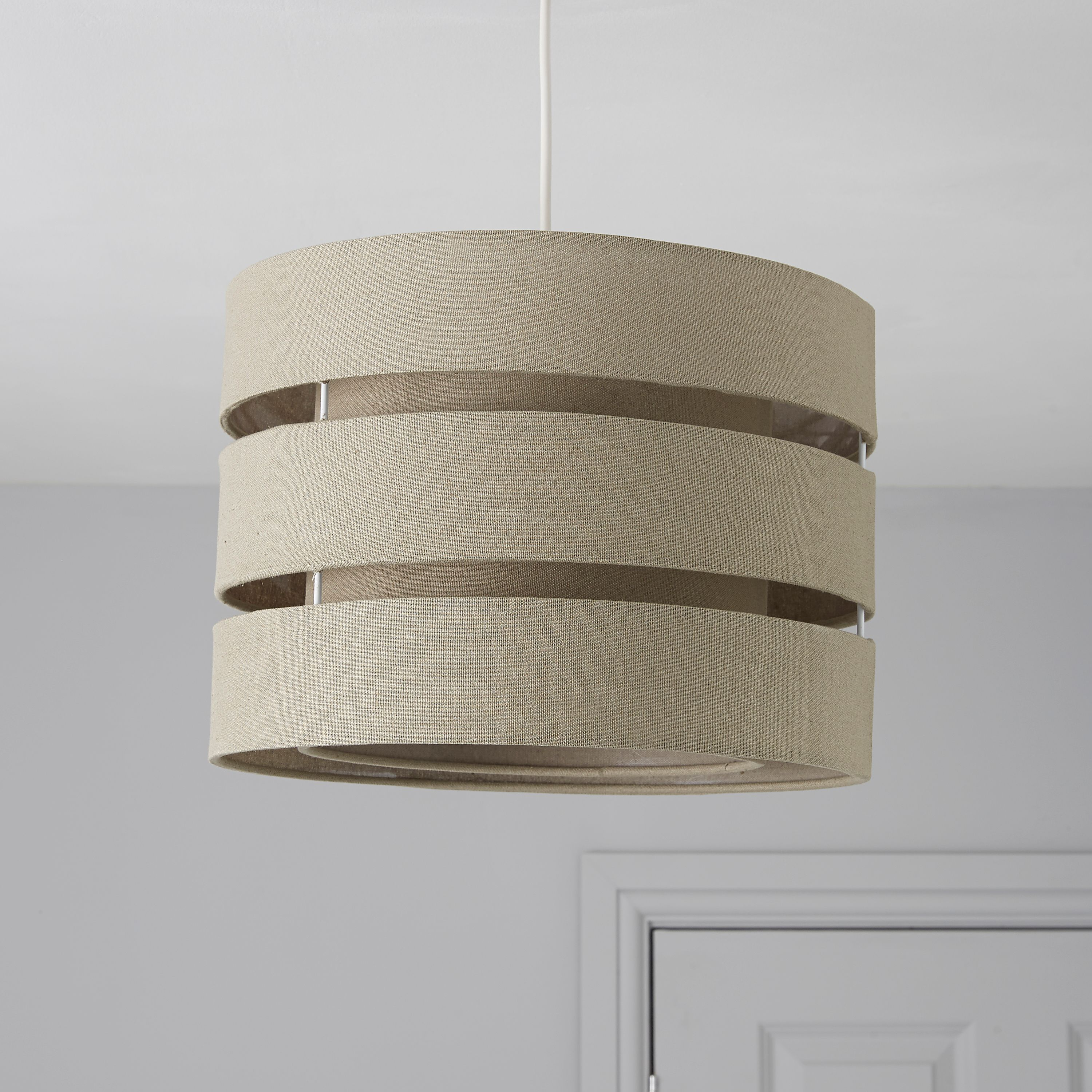 Colours Trio Taupe 3 Tier Light Shade (D)350mm | Departments | DIY at B&Q