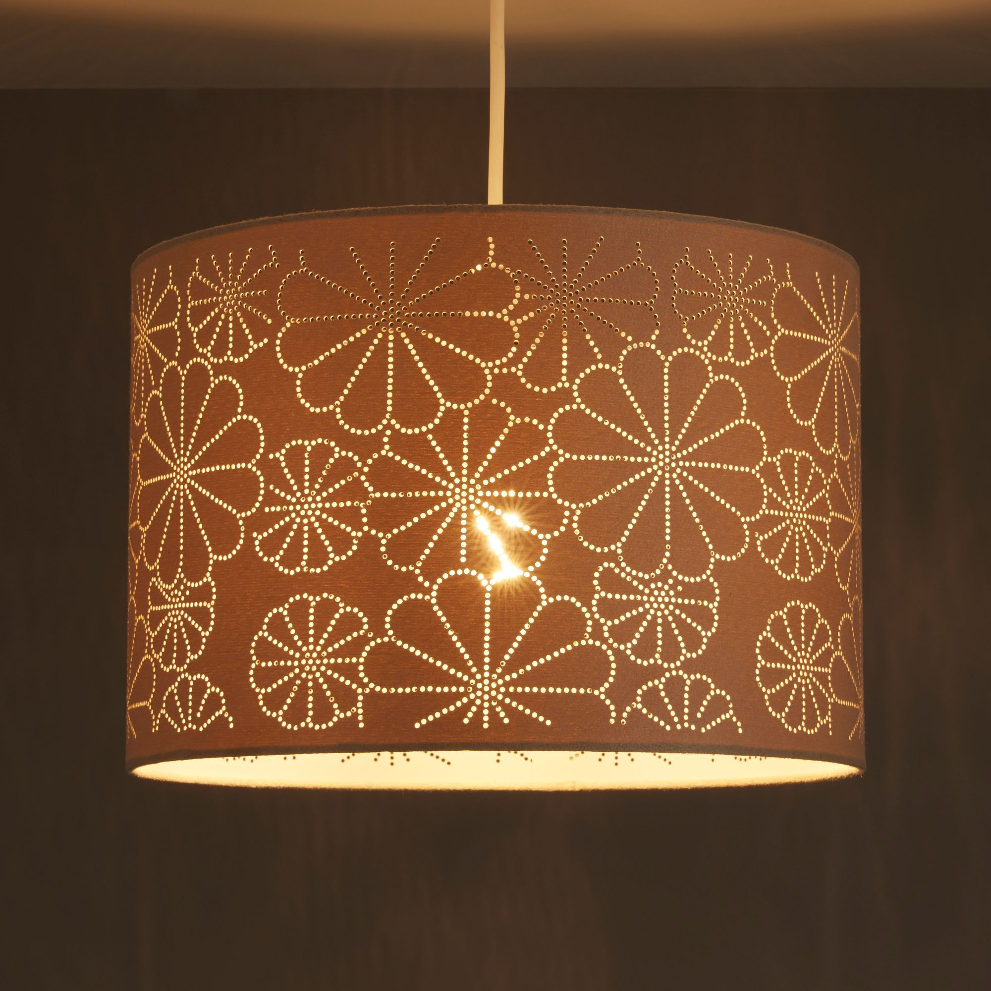 Colours Daisy Beige Laser Cut Light Shade (D)310mm