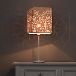 Colours Daisy Beige Laser Cut Light Shade (D)200mm