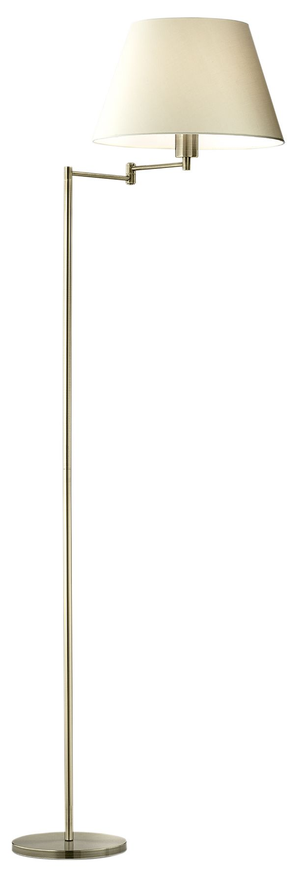 Leamington Gold Effect Incandescent Floor Lamp Departments Diy At B Q