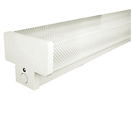 Colours Fluorescent Twin Batten Light with Diffuser (L)615mm