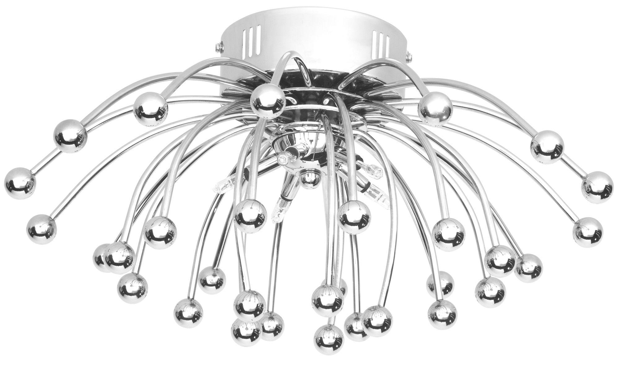 Anemone Sphere Silver Chrome Effect 5 L& Ceiling Light | Departments | DIY at Bu0026Q  sc 1 st  Bu0026Q & Anemone Sphere Silver Chrome Effect 5 Lamp Ceiling Light ...