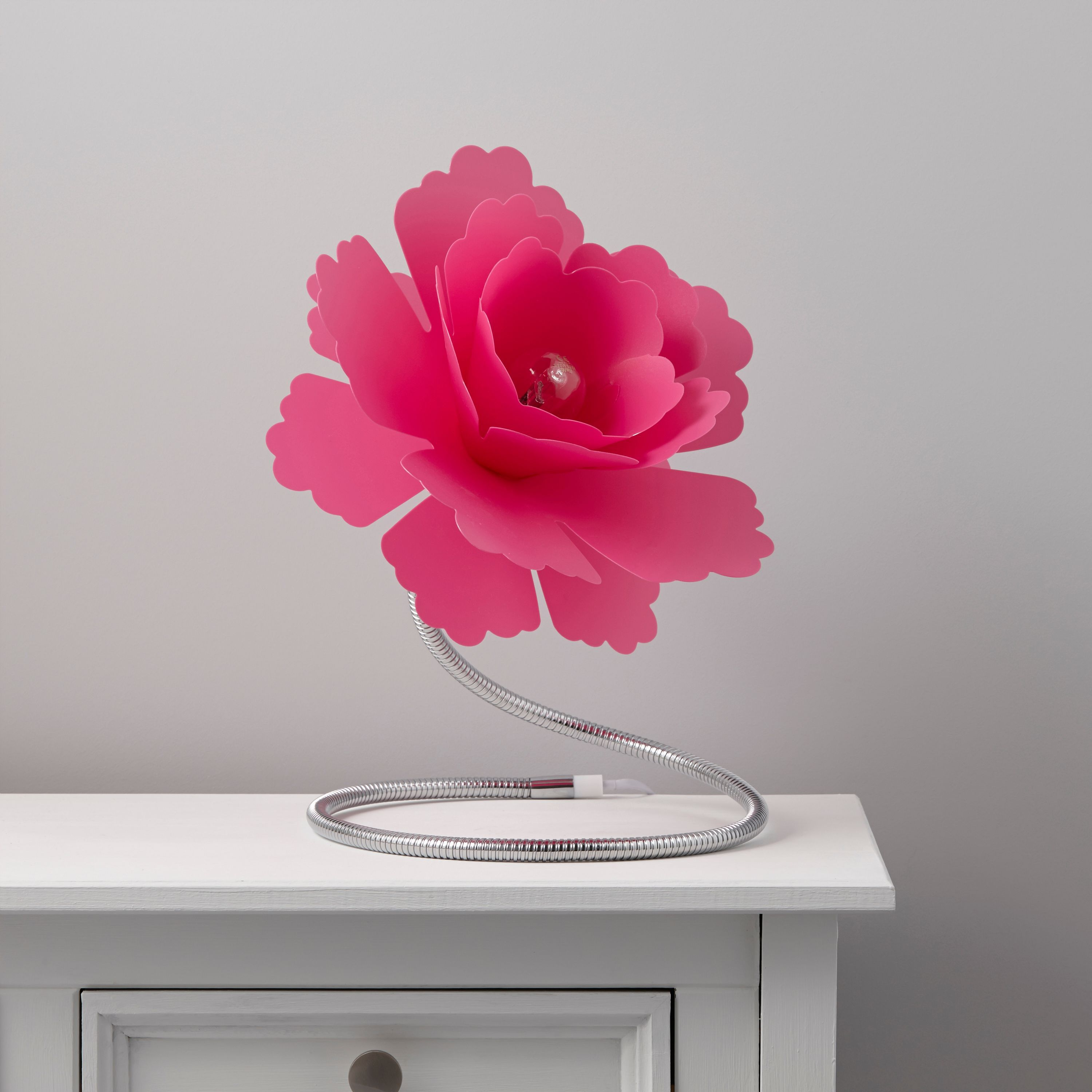 Paloma Flower Fuchsia Table Lamp Departments Diy At B Amp Q