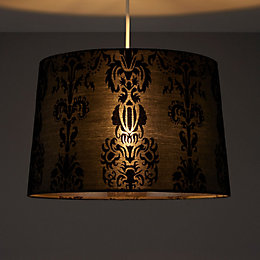 Colours Cerys Black Damask Light Shade (D)137mm