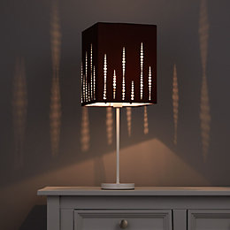 Colours Cassandra Brown Laser Cut Light Shade (D)200mm