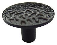 B&Q Black Round Furniture knob, Pack of 1