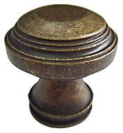 B&Q Bronze effect Round Furniture knob, Pack of 1