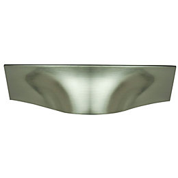 B&Q Satin Nickel effect Cup Furniture pull handle,