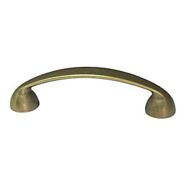 B&Q Bronze Effect Bow Furniture Pull Handle, Pack