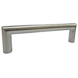 B&Q Satin Nickel Effect Bar Furniture Handle, Pack