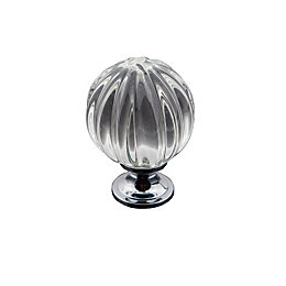 B&Q Chrome Effect Classic Knob Furniture Knob