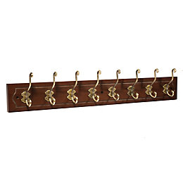 B&Q Bronze & gold Hook rail (H)20mm (W)110mm