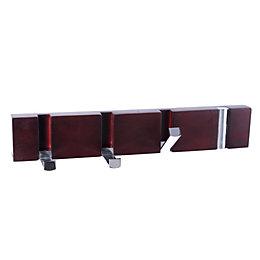 B&Q Pine & zinc alloy Hook rail