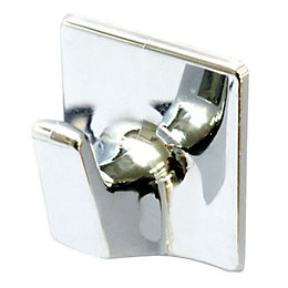 B&Q Chrome Effect ABS Robe Hook, Pack of