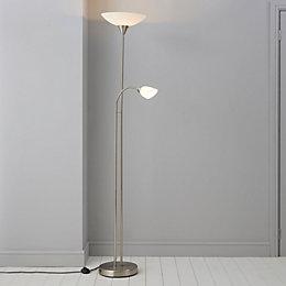 Carpio Chrome Effect Floor Lamp