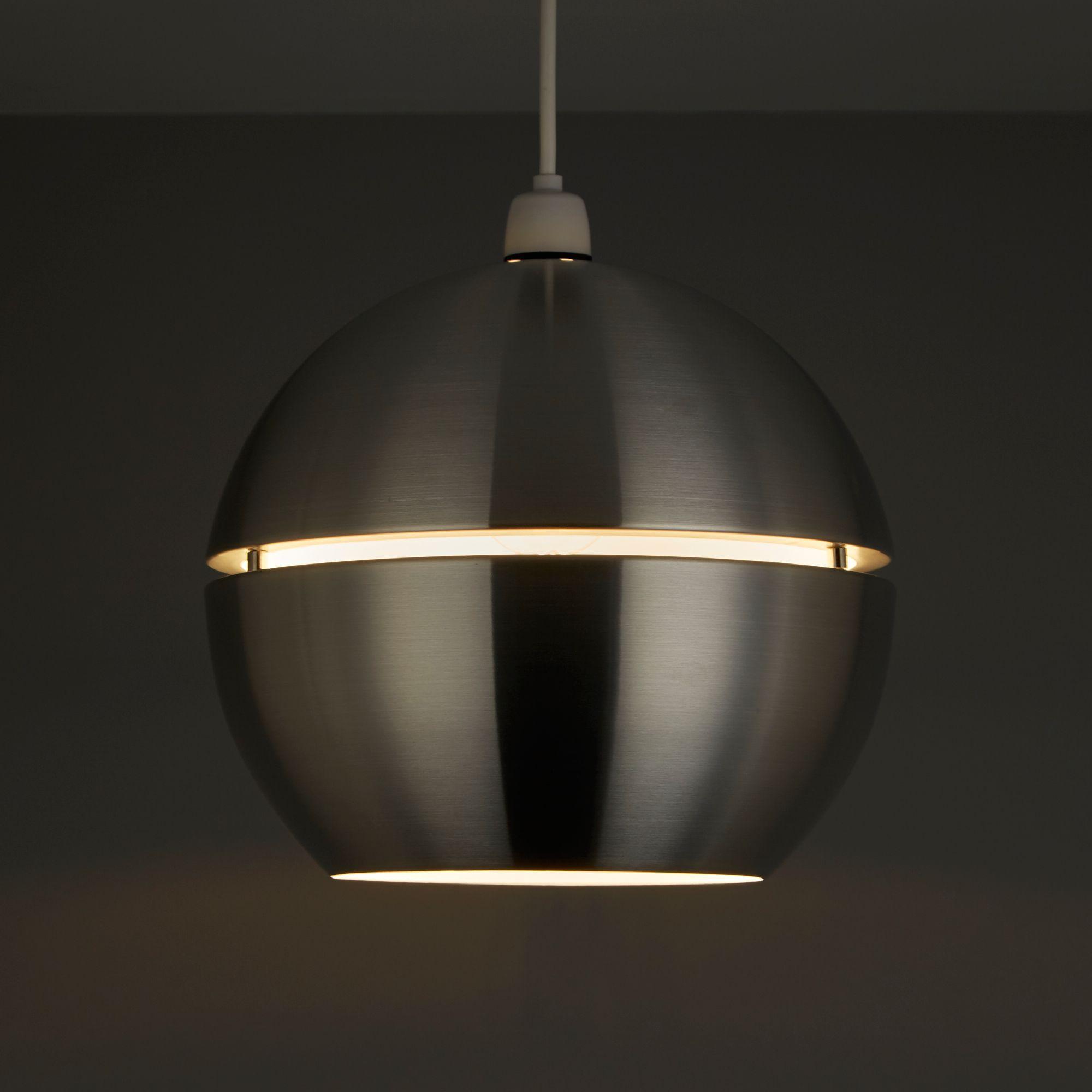 Chandelier Lighting B Q: Rainbow Aluminium Spherical Pendant Light Shade