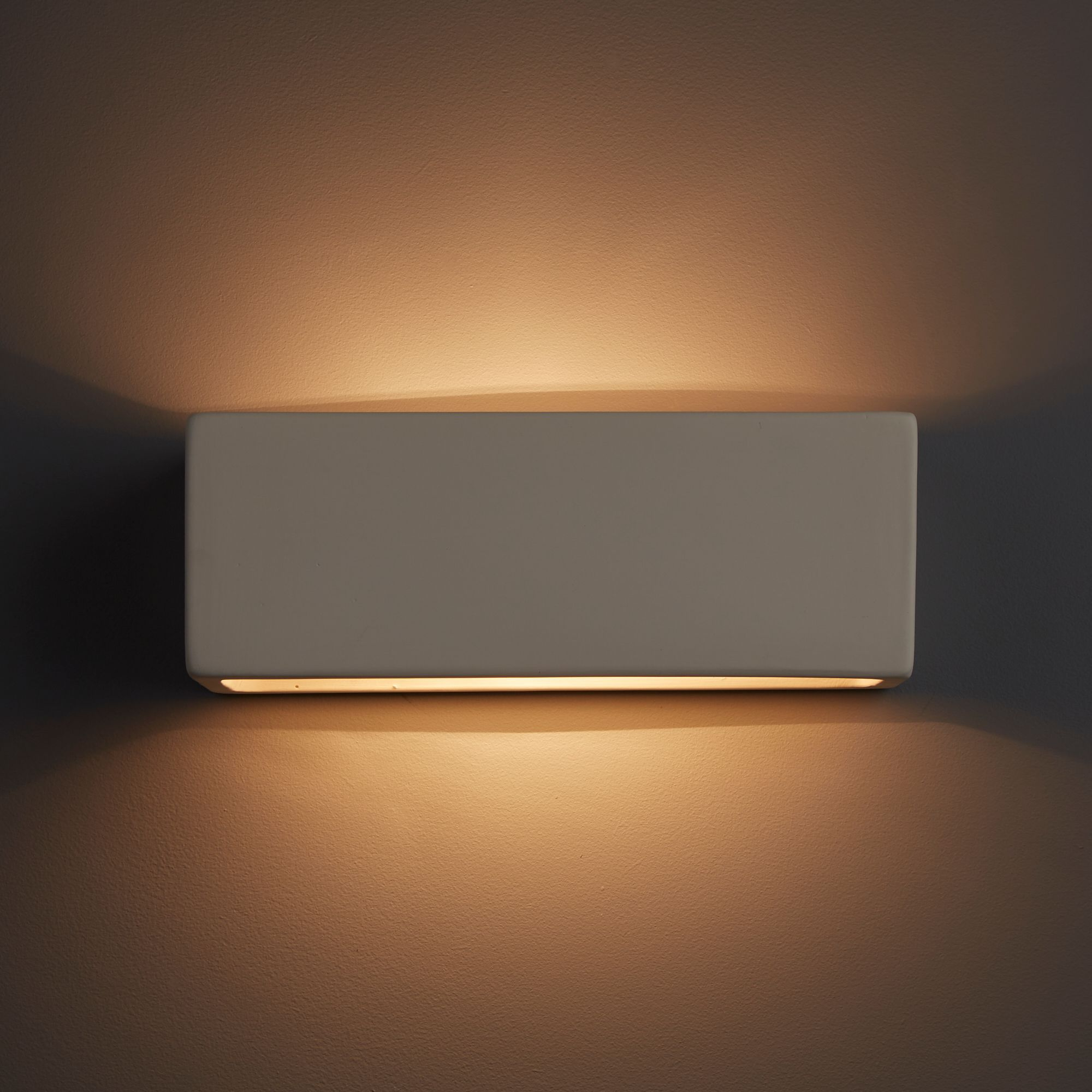 Melody Matt White Wall Light Departments Diy At B Q