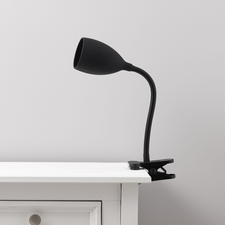 Dana Black Clip On Desk Lamp Departments Diy At B Amp Q