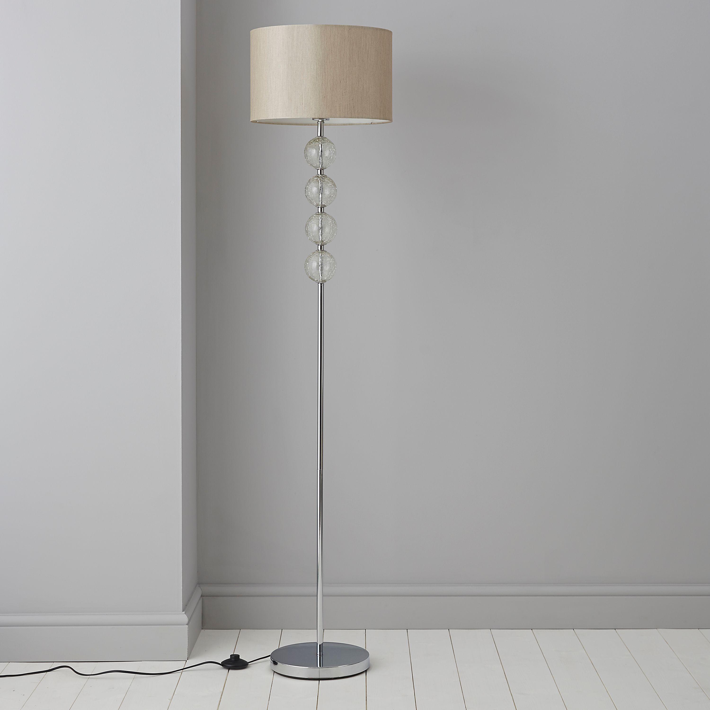 Gina Cream Chrome Effect Floor Lamp