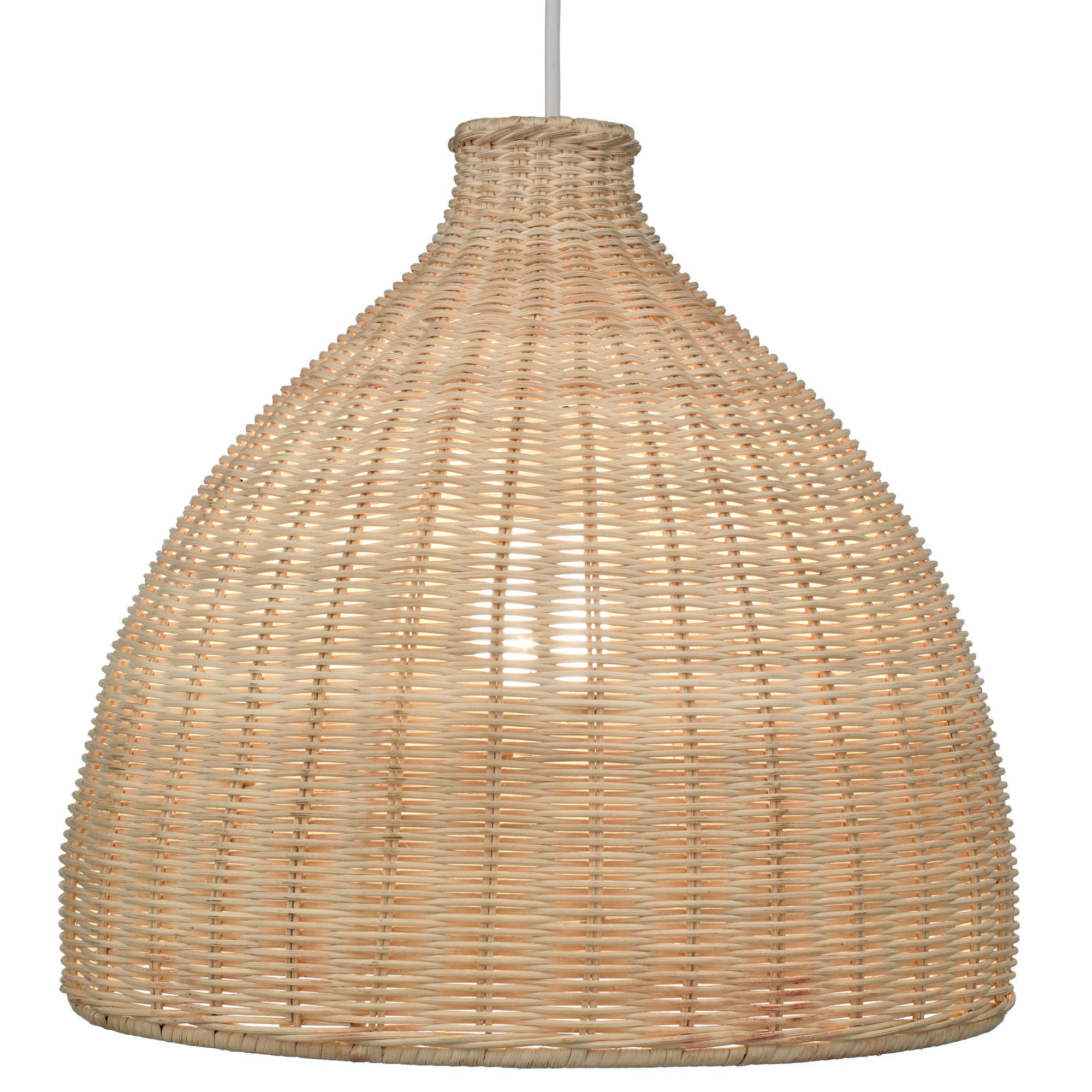 Colours Zena Natural Rattan Light Shade D 33cm
