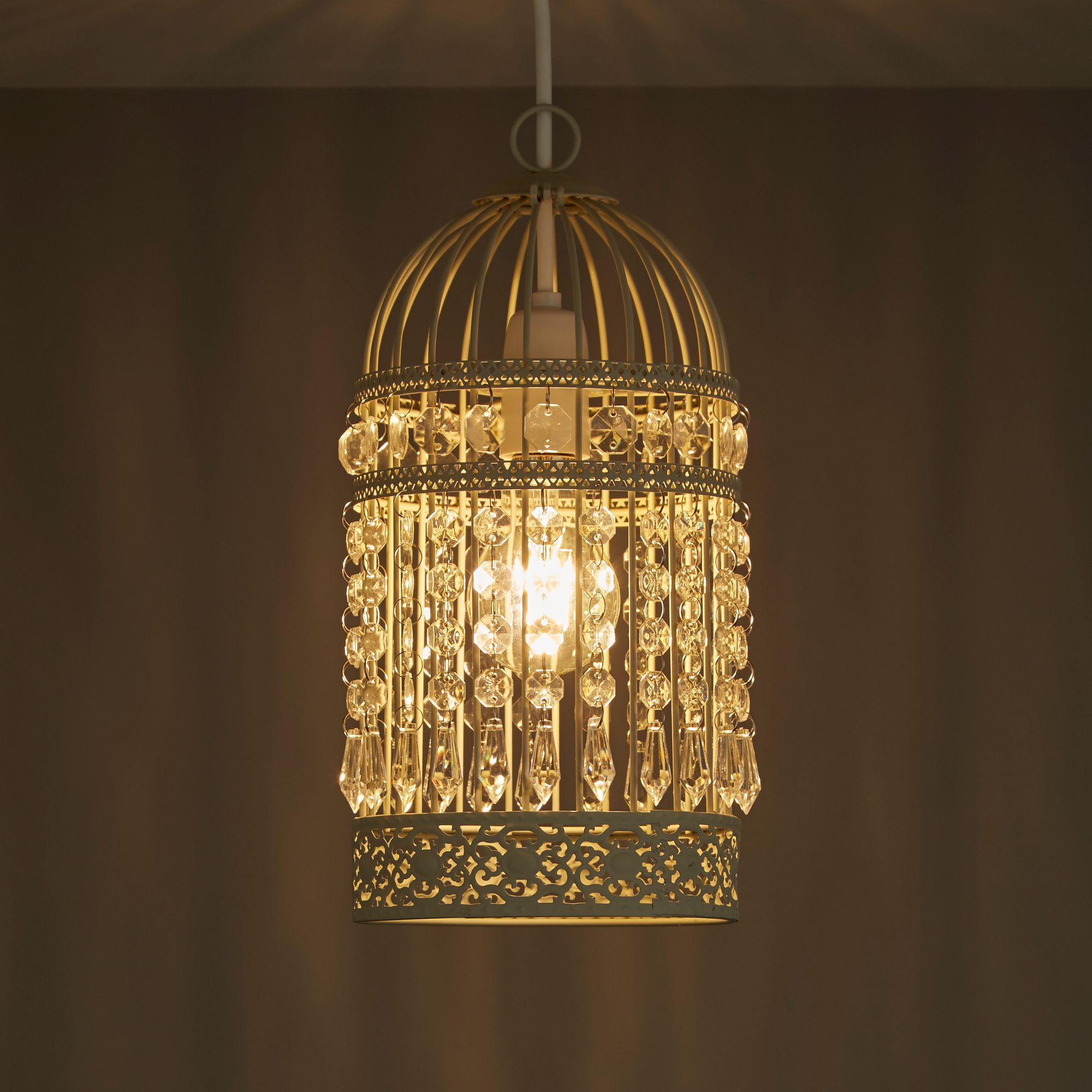 Isobel Cream Birdcage Pendant Light Shade (D)150mm | Departments | DIY at  B&Q