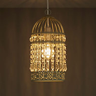 Isobel Cream Birdcage Pendant light shade (D)150mm