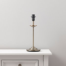 Annabel Grey Brass Effect Lamp Base