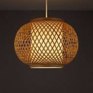 Joyce Natural Rattan with inner diffuser Light shade (D)330mm