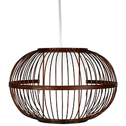Mandy Bamboo with Inner Diffuser Light Shade (D)300mm