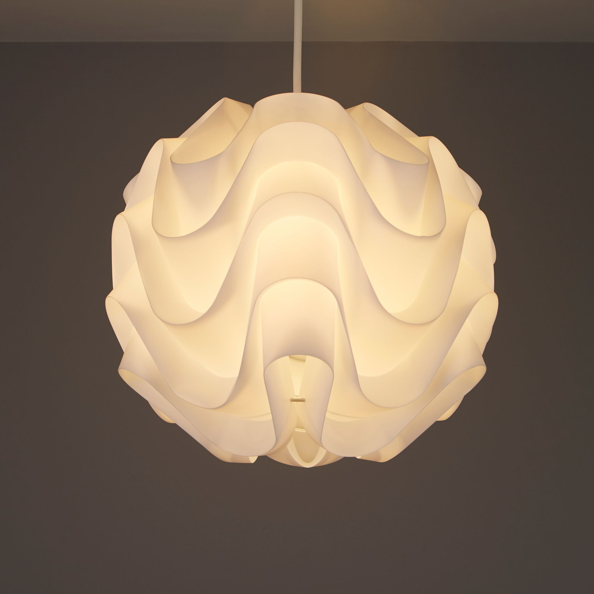 Colours Rosa White Moulded Light Shade (D)300mm
