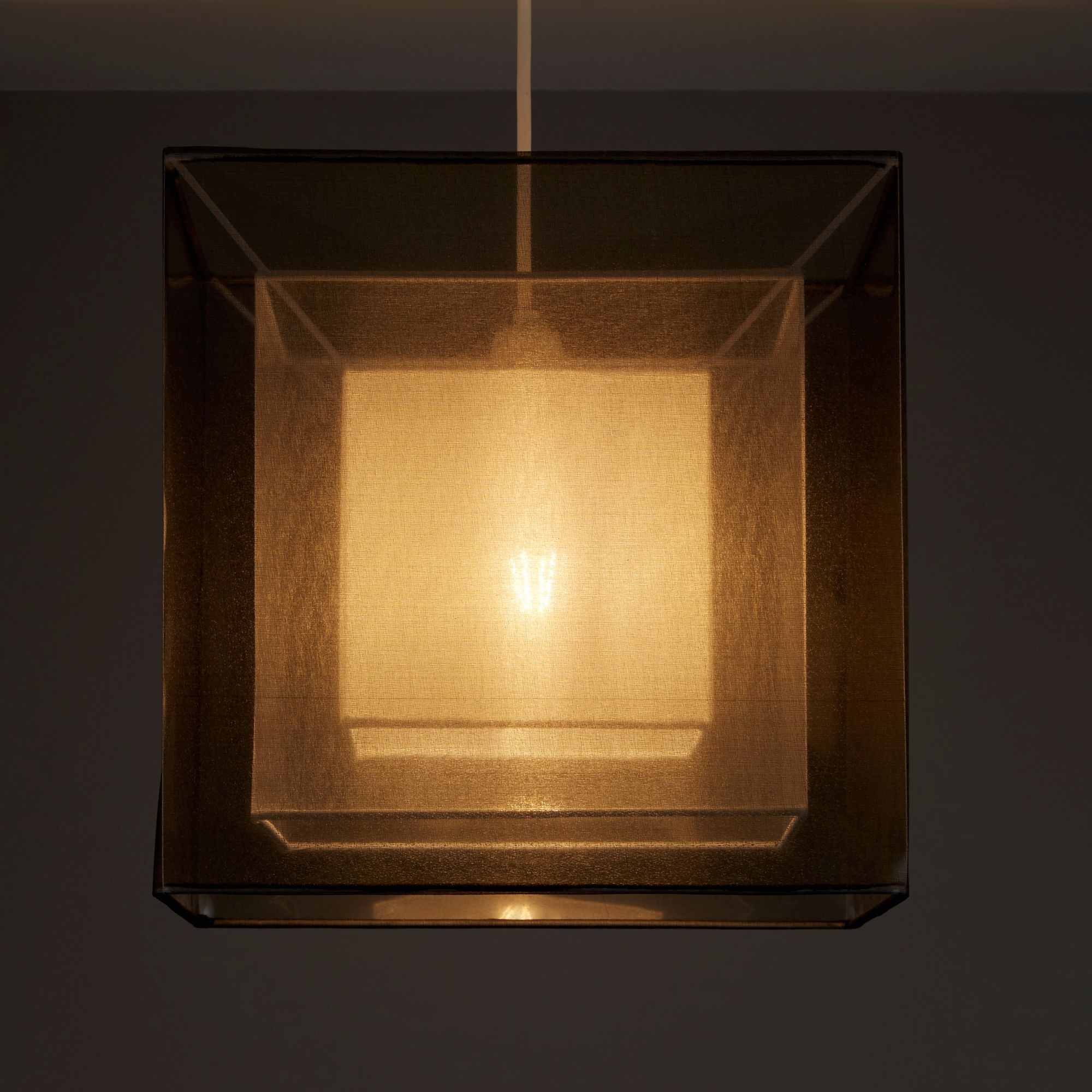 Colours Taylor Grey Triple Layered Light Shade (D)300mm
