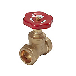 Plumbsure Compression Gate valve (Dia)28mm