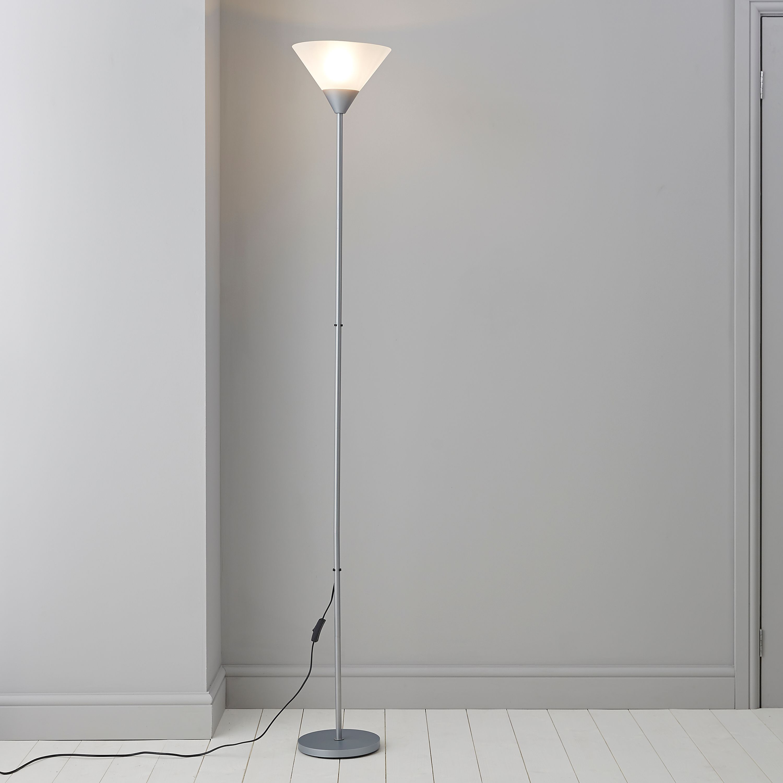 Freddy Grey Floor lamp | Departments | DIY at B&Q