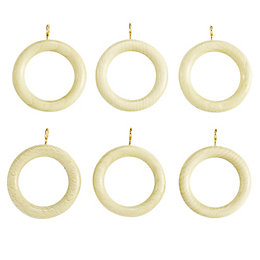 Colours White Wash Ash Curtain Ring (Dia)35mm, Pack