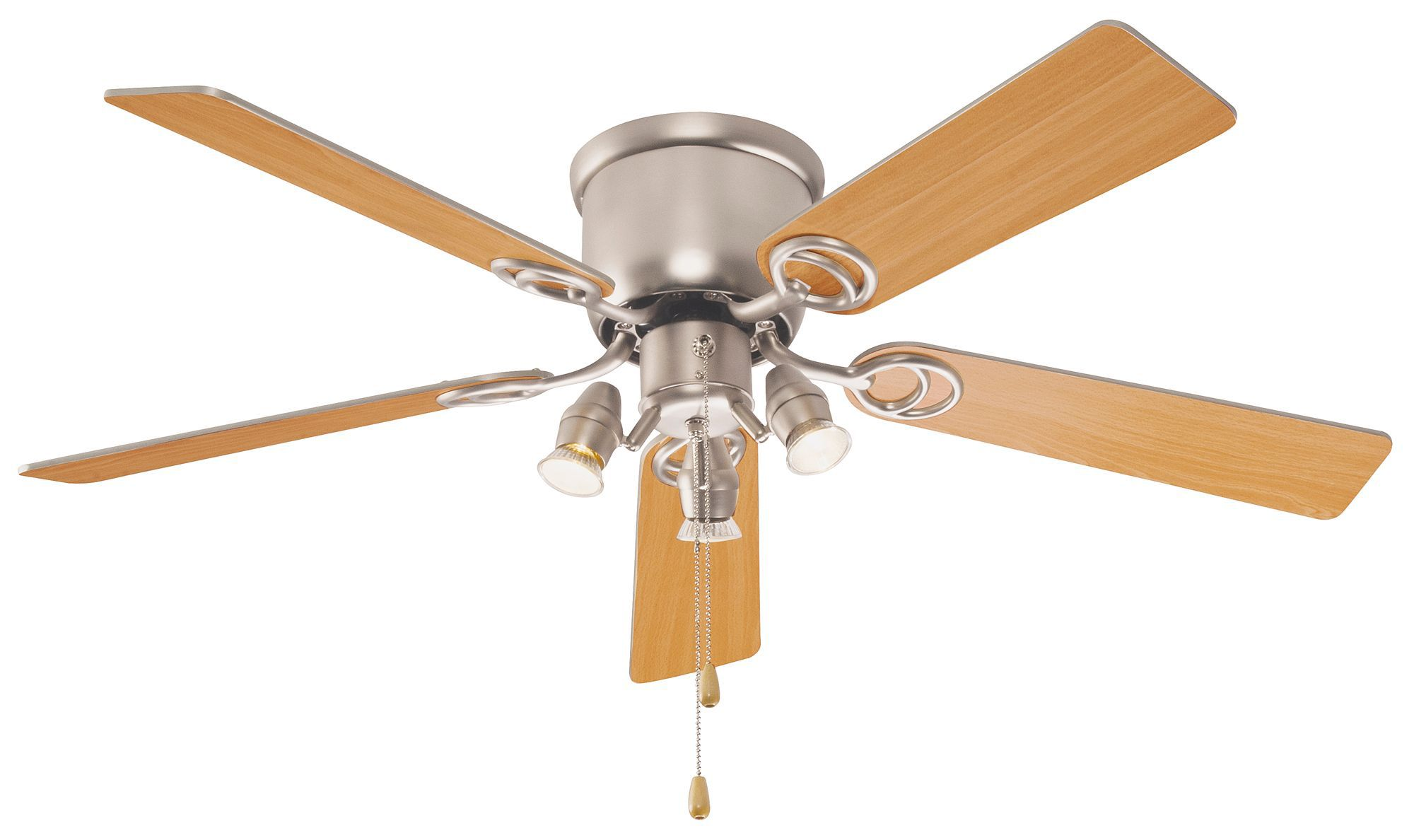 Austin Brown Stainless Steel Effect Ceiling Fan Light