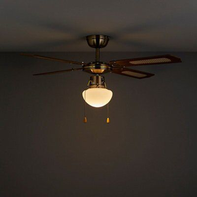 Reamington Brown Ceiling Fan Light Departments Diy At B Q