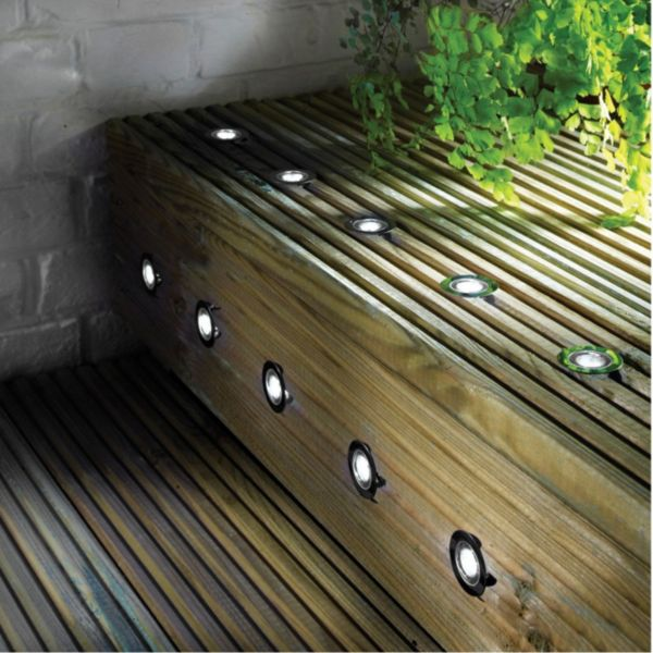 Decking Lights Led And Solar Decking Lights Diy At Bandq