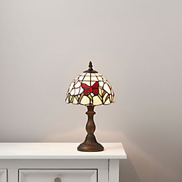 Ailsa Multicolour Antique Bronze Effect Table Lamp
