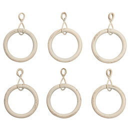 Colours Modern Gold Effect Metal Curtain Ring (Dia)25mm,