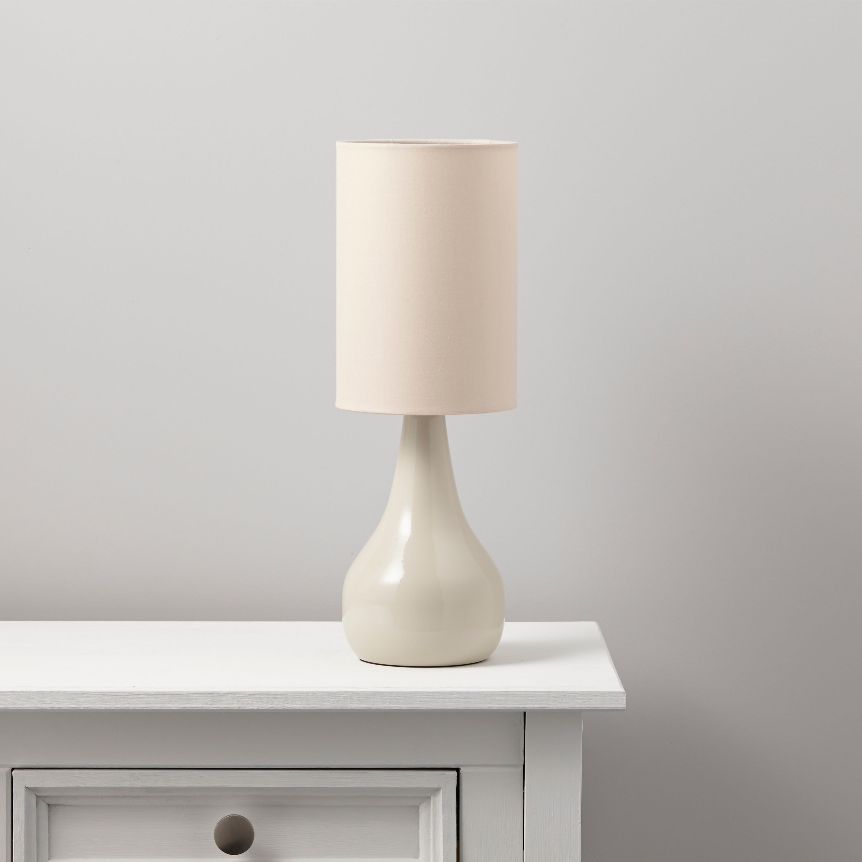 Ariel cream table lamp departments diy at bq mozeypictures Choice Image