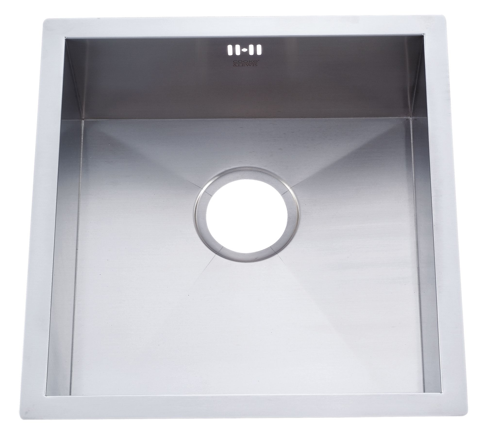 Cooke & Lewis Nitoite 1 Bowl Satin Stainless Steel Sink ...