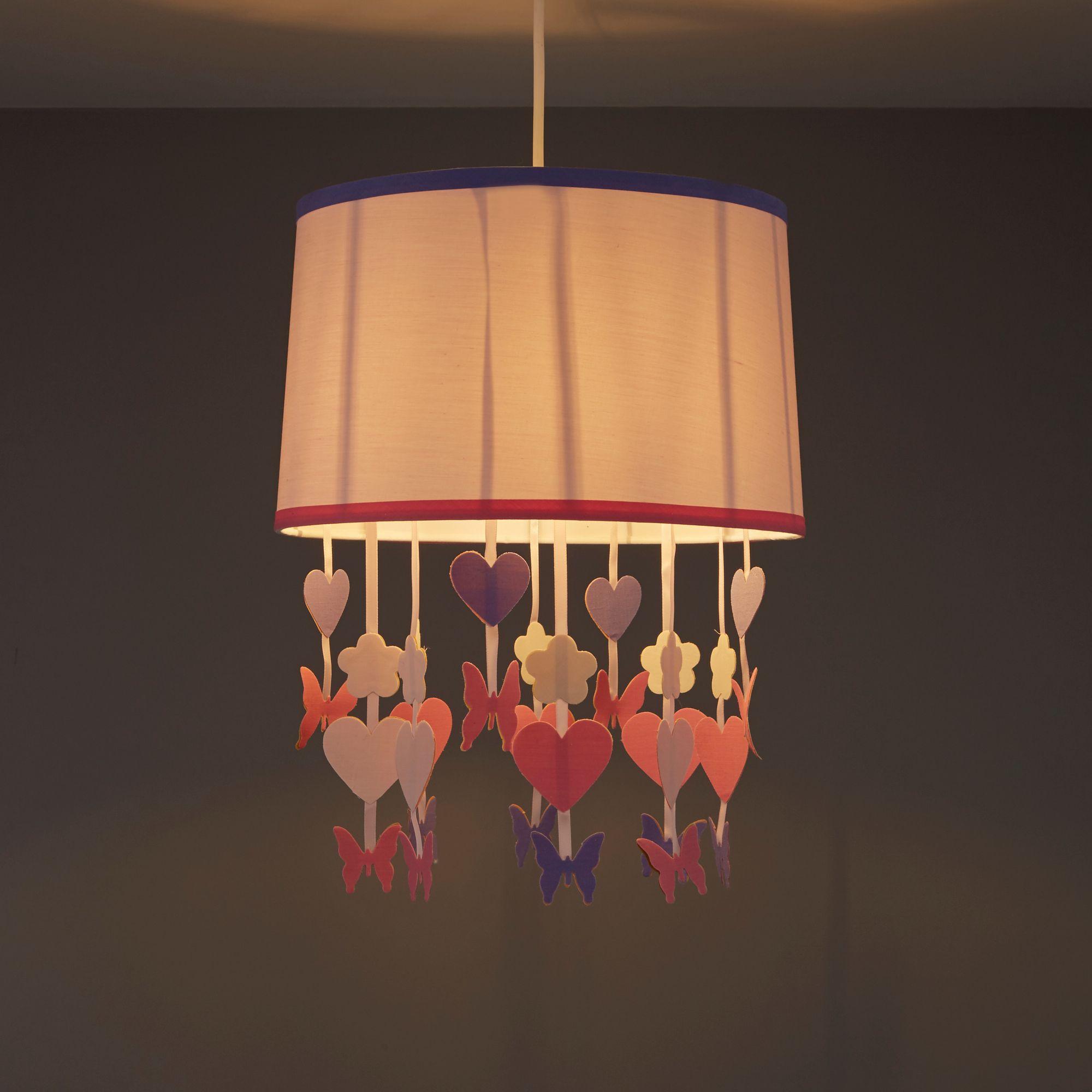 Colours Elara Powder Pink Butterfly Light Shade (D)305mm