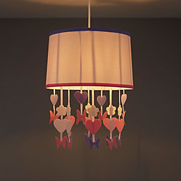 Colours Elara Powder Pink Butterfly Light Shade (D)305mm